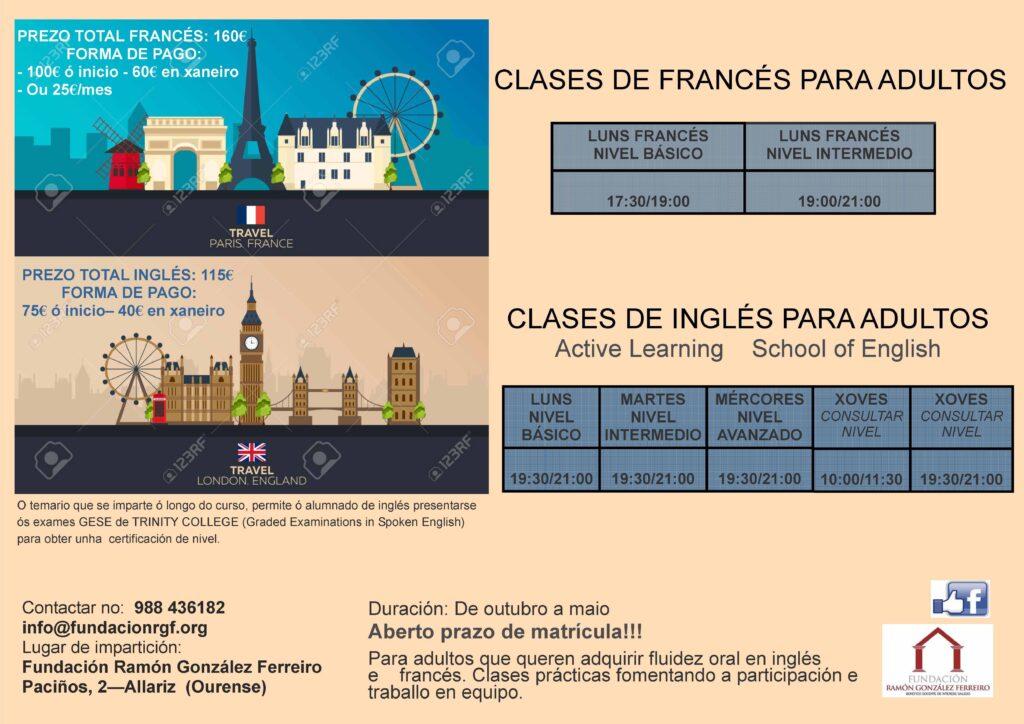 COMENZO EN OUTUBRO CLASES DE INGLÉS