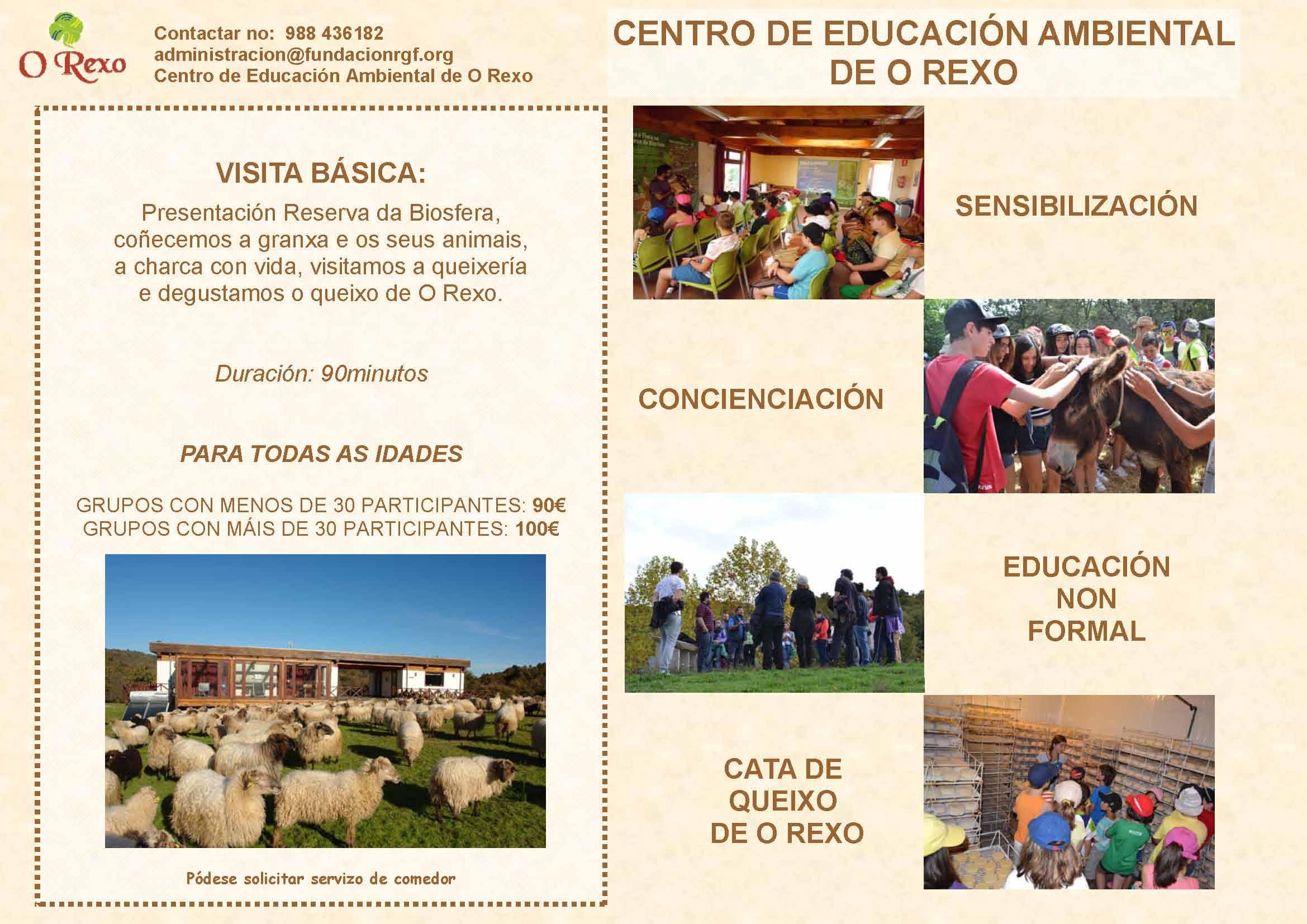Programa Grupos e Colexios Visita básica 2017Programa Grupos e Colexios Visita básica 2017